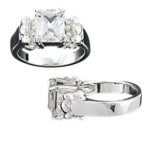 Jewelry - 925 Cubic Zirconia Prong Solitaire Ring